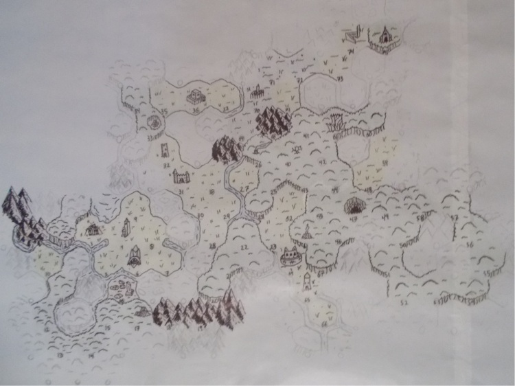 Randomly generated Forbidden Lands map