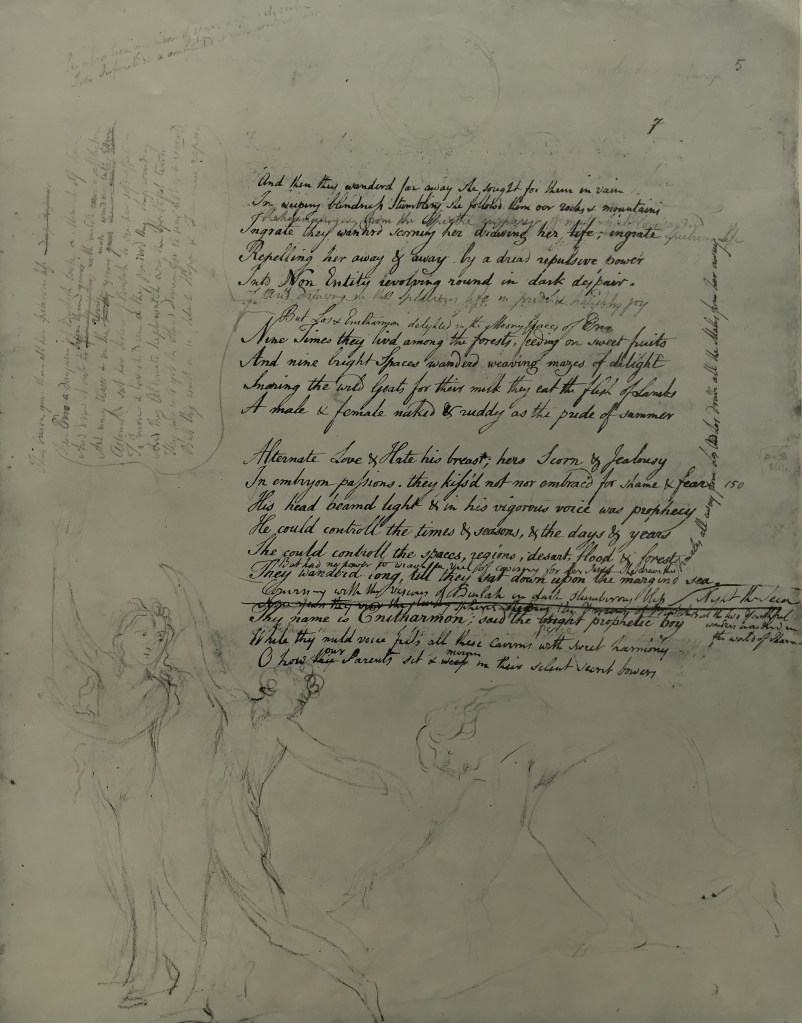 A manuscript page from William Blake's The Four Zoas