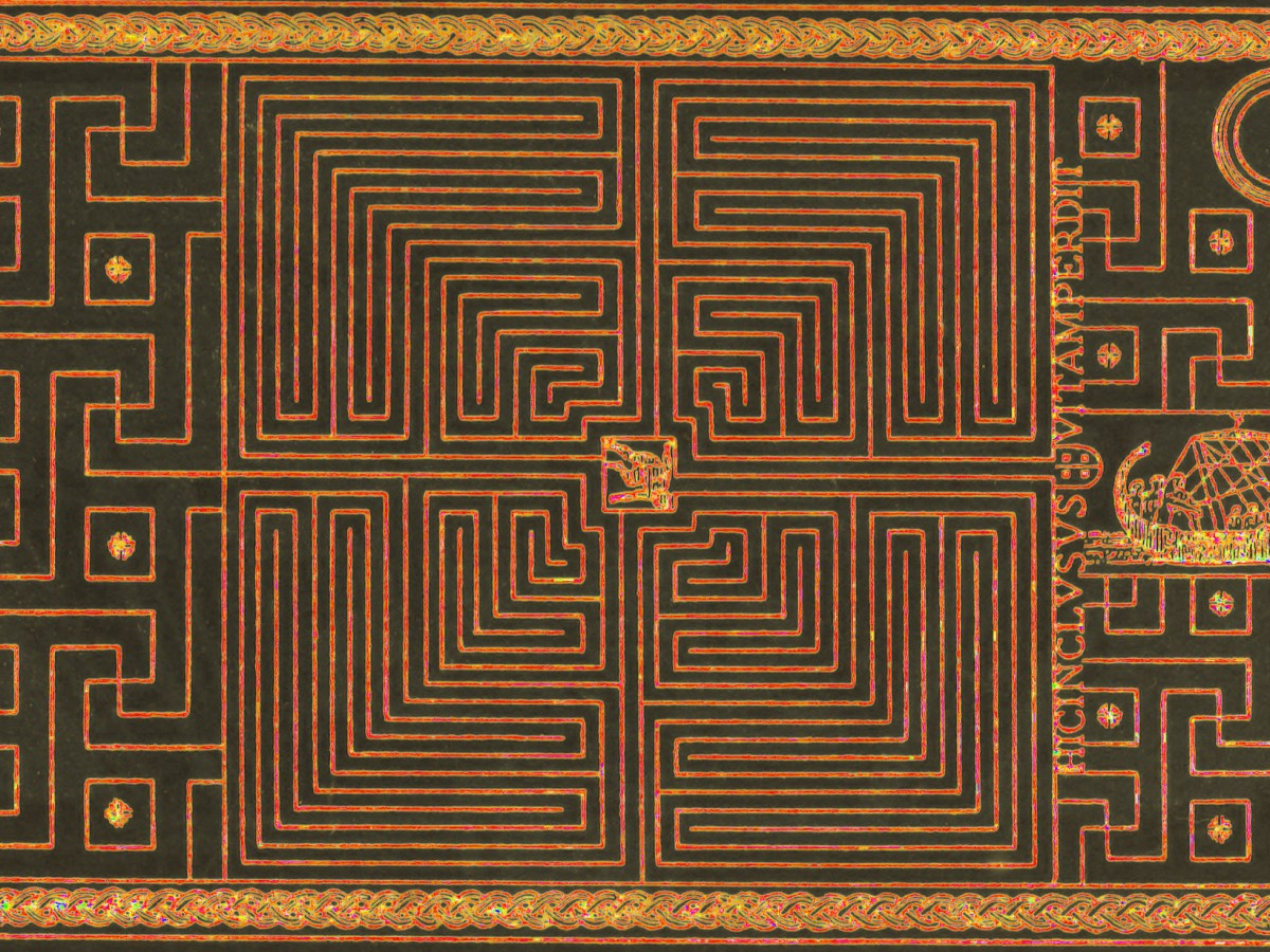 The Labyrinth, from William Henry Matthews's Mazes and Labyrinths