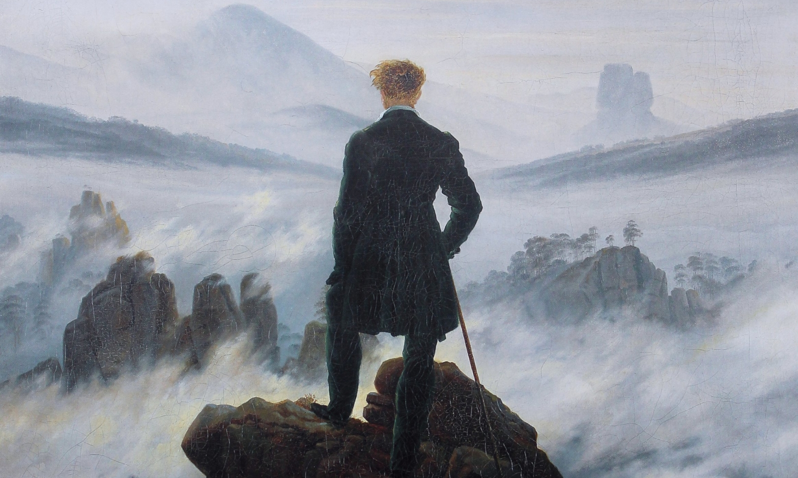 Caspar David Friedrich, Wanderer above the sea of fog, ca. 1817