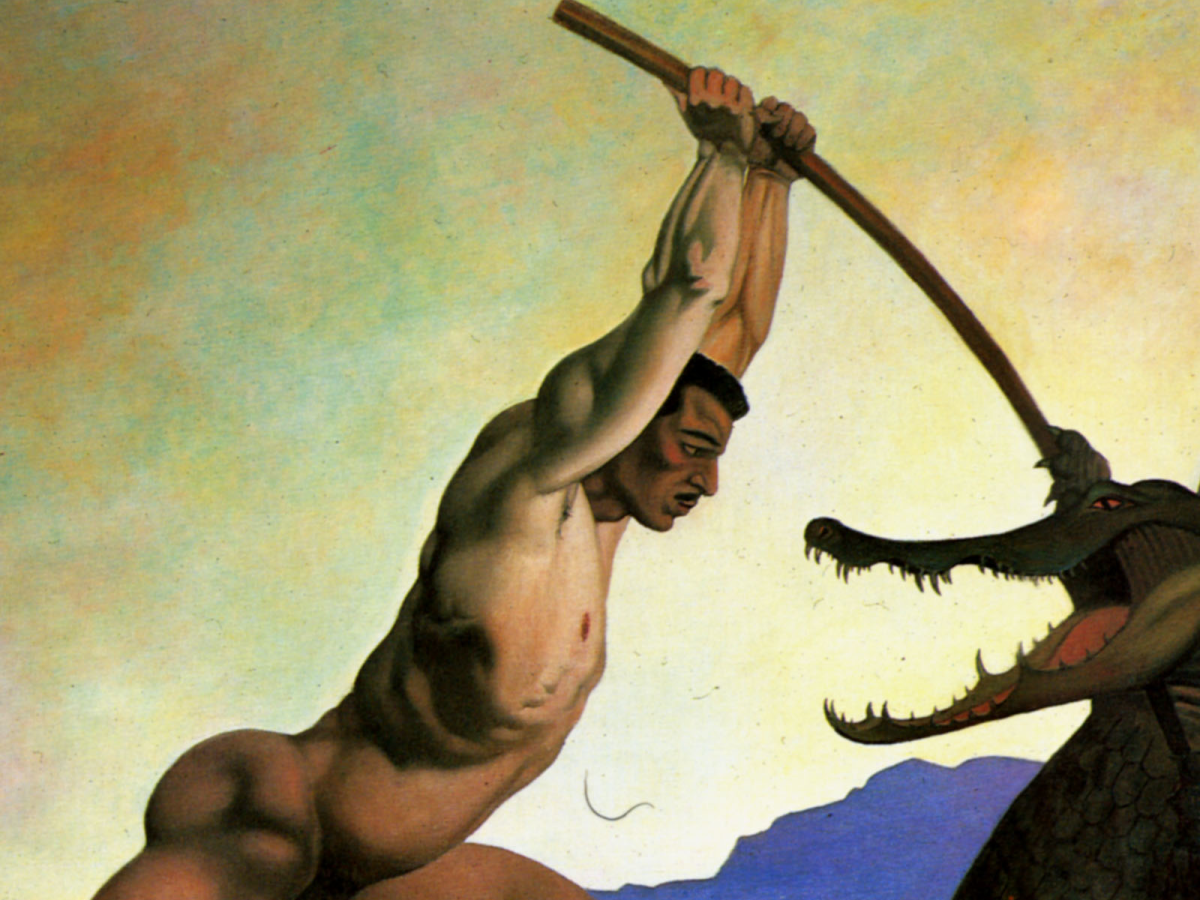Felix Vallotton's painting of Perseus Killing the Dragon