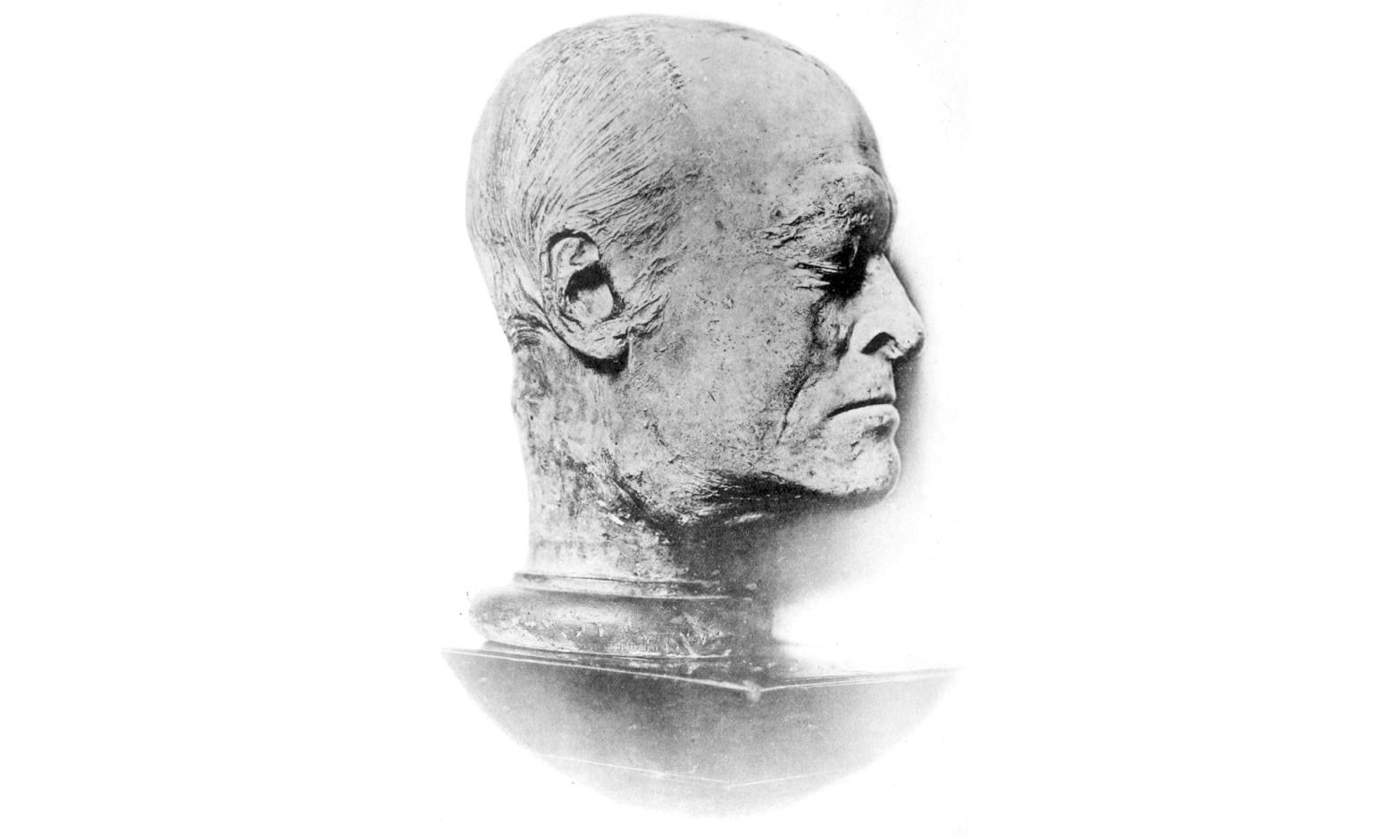 Bust of William Blake made by James de Ville c. 1807. Public domain.